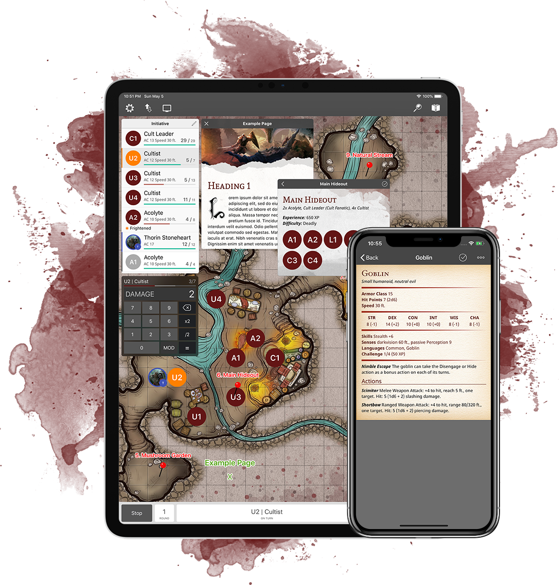 EncounterPlus D&D 5E screenshot